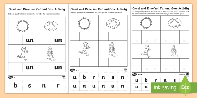 39 un 39 onset and rime differentiated worksheet activity sheets. Black Bedroom Furniture Sets. Home Design Ideas