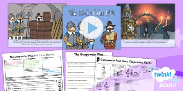 History: The Gunpowder Plot: The End of the Plot KS1 Lesson Pack 3