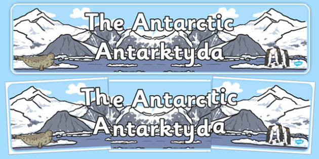 The Antarctic Display Banner Polish Translation - polish, antarctic, display banner, display, banner, polar regions, polar