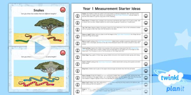 PlanIt Maths Y1 Measurement Starter Ideas Pack