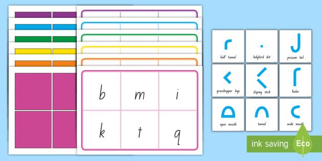 caterpillar letters lower case bingo