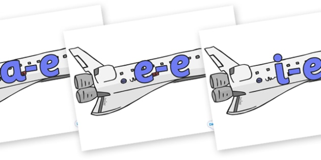 Modifying E Letters on Space Shuttles - Modifying E, letters, modify, Phase 5, Phase five, alternative spellings for phonemes, DfES letters and Sounds