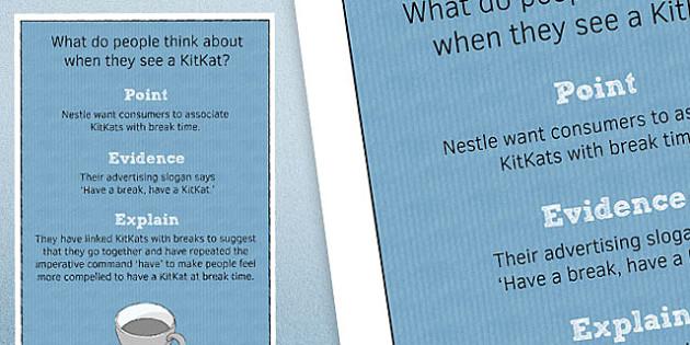 Point Evidence Explain Poster 1 - point, evidence, explain, poster, display, classroom, ks3