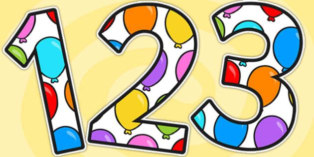 Balloon Display Numbers - balloon, numbers, display numbers