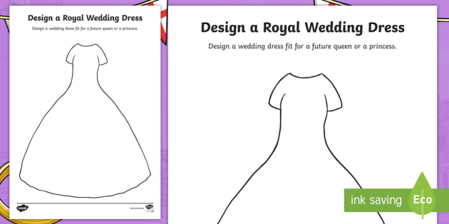 Design A Royal Wedding Dress Worksheet Worksheet Harry And