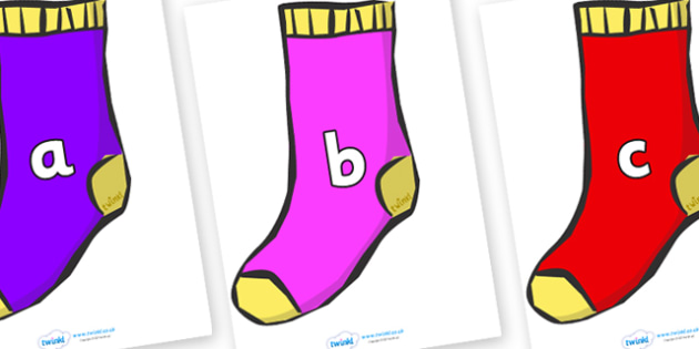 Phase 2 Phonemes on Socks - Phonemes, phoneme, Phase 2, Phase two, Foundation, Literacy, Letters and Sounds, DfES, display