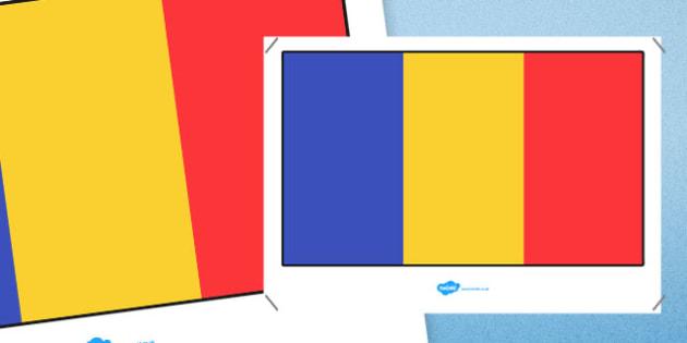Romania Flag Display Poster - romania, romania flag, flag, display poster, display