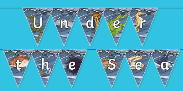 Under the Sea Display Bunting