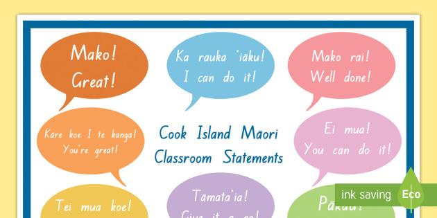Cook island classroom statements display poster cook island cook island classroom statements display poster cook island language week language cook m4hsunfo