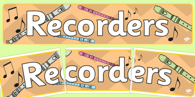 Music Recorders Display Banner - music, recorders, music recorders, display banner, display, banner, banner for display, header, display header, display