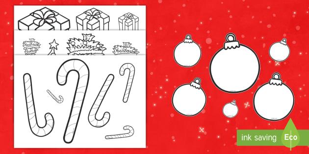 Colorea y ordena los tamaños - La Navidad-Spanish - grande, mediano, pequeño, medida, pintar, colorea, navidad, navideño,Spanish - grande, mediano, pequeño, medida, pintar, colorea, navidad, navideño,Spanish