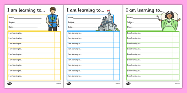 Fairy Tale Themed Target and Achievement Sheets - fairytale, target and achievement, target, achievement, sheets