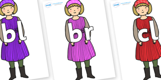 Initial Letter Blends on Rapunzels Mother - Initial Letters, initial letter, letter blend, letter blends, consonant, consonants, digraph, trigraph, literacy, alphabet, letters, foundation stage literacy