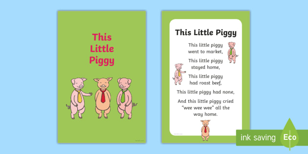 This Little Piggy Nursery Rhyme IKEA Tolsby Frame - baby signing