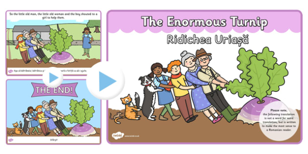 The Enormous Turnip Story PowerPoint EAL Romanian Translation