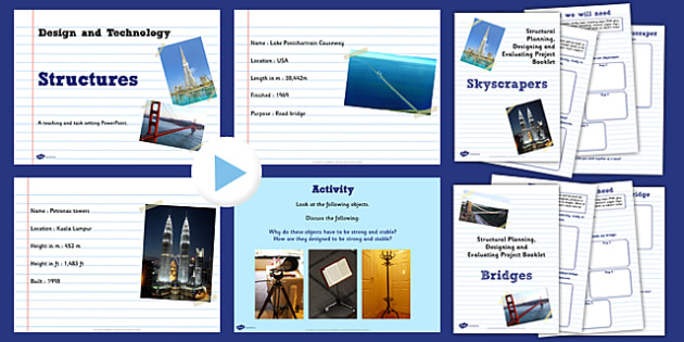 structures lesson teaching pack structures lesson pack