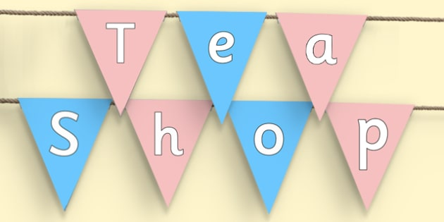 Tea Shop Display Bunting - tea shop, role play, bunting, display bunting, display
