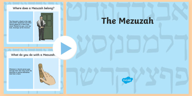 picture regarding Mezuzah Scroll Printable named Mezuzah PowerPoint - KS2 Device