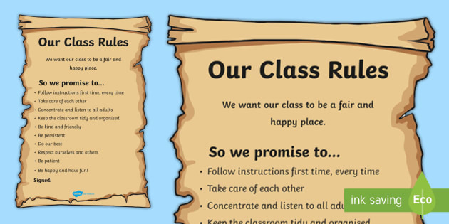 Class rules poster class charter class charter poster class rules poster class charter class charter poster display poster maxwellsz