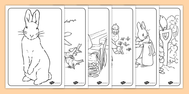 The Tale of Peter Rabbit Colouring Sheets - peter rabbit, colour