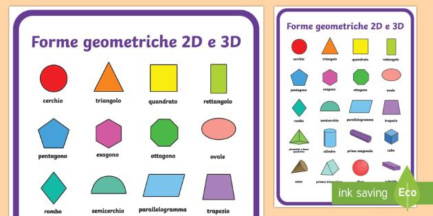 Forme Geometriche 2d E 3d Poster Poster A2 Formato