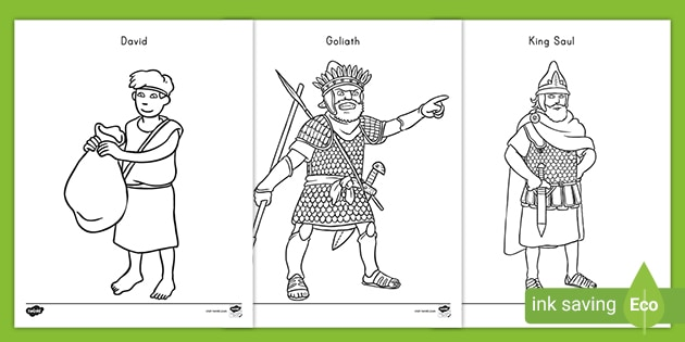David And Goliath Coloring Pages Teacher Made