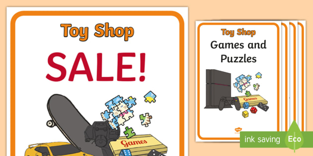Toy Shop Display Posters - Toy shop Role Play, toy shop, toy shop resources, toys, till, money, customer, dolls, lego, ben 10, role play, display, poster, Display Posters, A4, display, posters,