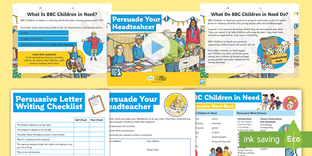 * NEW * KS2 BBC Children in Need: Pudsey Writing Persuasive Letter Resource Pack