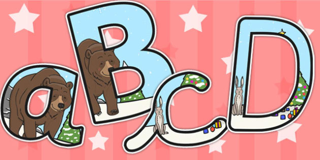 The Bear and the Hare Themed A4 Display Lettering - lettering