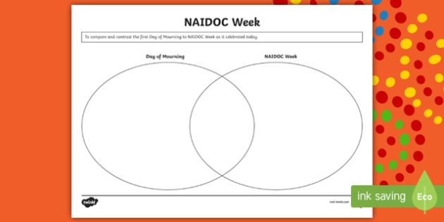 Naidoc Week Venn Diagram Activity Australia 2nd July