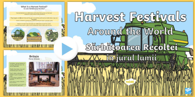 Harvest Festivals Around The World PowerPoint English/Romanian