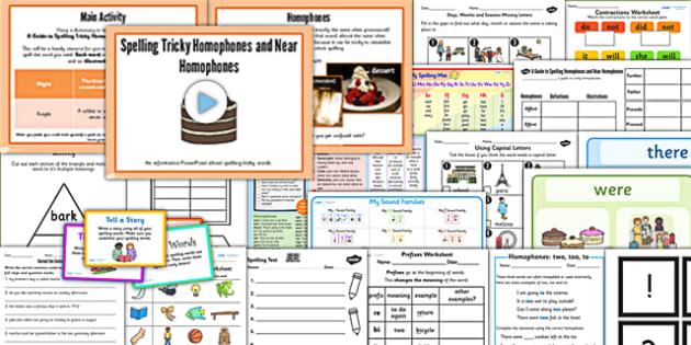 KS1 Spelling and Grammar Resource Pack - grammar, spell, pack