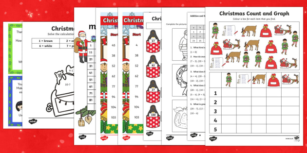 Ks Top Ten Christmas Maths Worksheets Save Resource