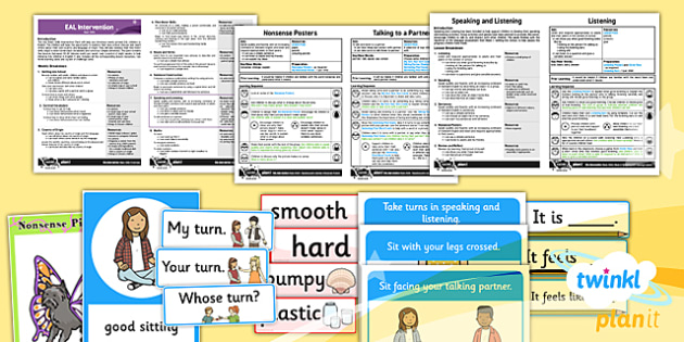PlanIt - EAL Intervention - Basic Skills 6: Speaking and Listening Resource Pack