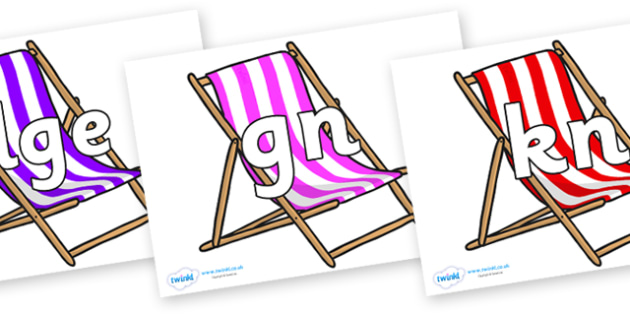 Silent Letters on Deck Chairs - Silent Letters, silent letter, letter blend, consonant, consonants, digraph, trigraph, A-Z letters, literacy, alphabet, letters, alternative sounds