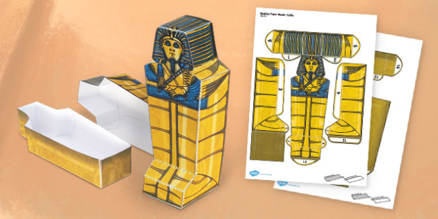 egyptian sarcophagus template