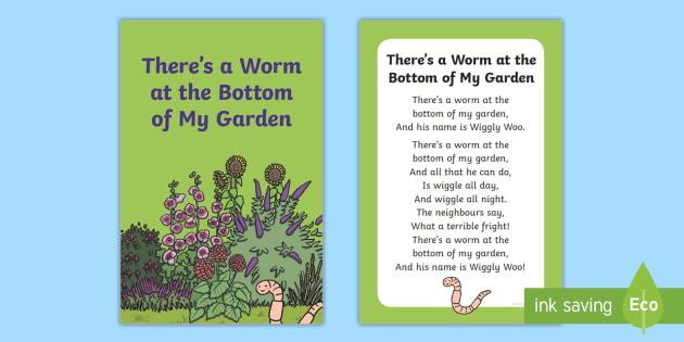 There\'s a Worm at the Bottom of My Garden Nursery Rhyme IKEA