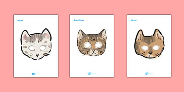 Beatrix Potter - The Tale of Tom Kitten Role Play Masks - beatrix potter, tom kitten