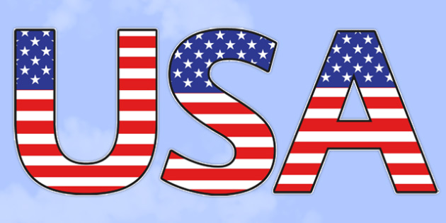 USA Flag Themed Title Display Lettering - us flag, usa, themed, title, display lettering
