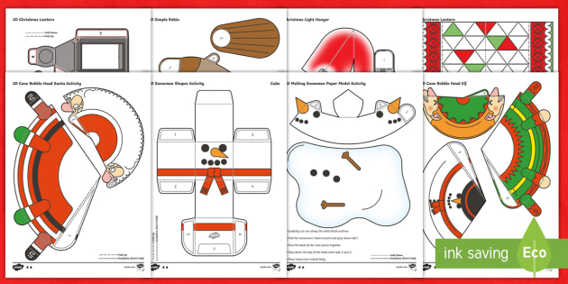 christmas table decorations activity pack craft colouring christmas party ks1 ks2