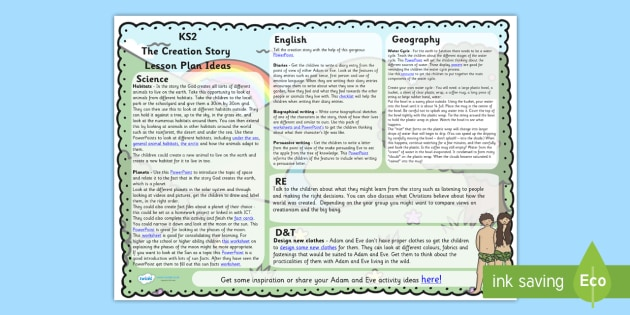 The Creation Story Lesson Plan Ideas KS2 - religion, lesson plan
