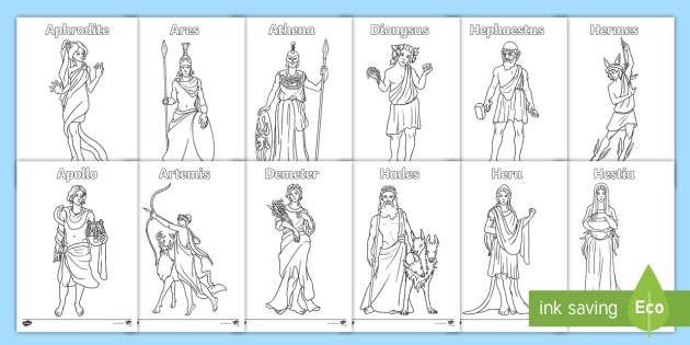 Greek Gods Colouring Pages