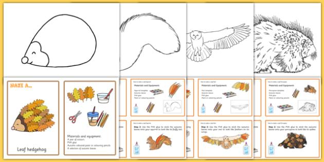 Autumn Leaf Animal Craft   Activity Pack-Australia