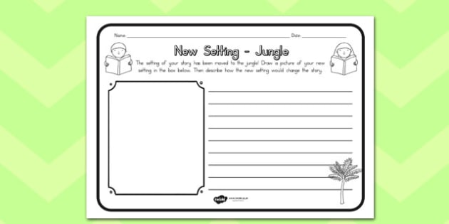 New Setting Jungle Comprehension Worksheet - australia, jungle