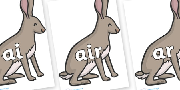 Phase 3 Phonemes on Hares - Phonemes, phoneme, Phase 3, Phase three, Foundation, Literacy, Letters and Sounds, DfES, display
