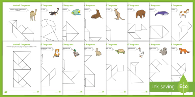 image regarding Printable Tangrams Pdf Free identified as Tangram Pets Video game Booklet - things to do, tangrams, animal