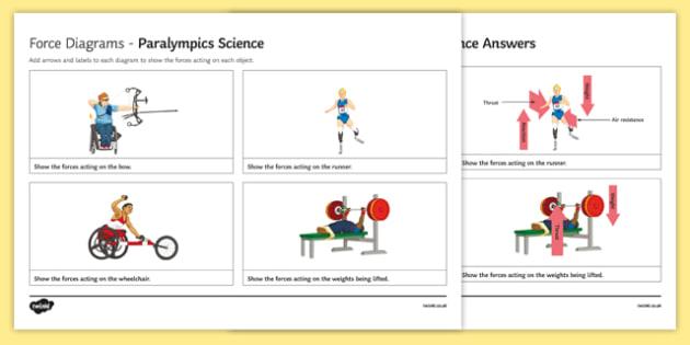 Force Diagrams Olympic Science Worksheet / Worksheet, worksheet