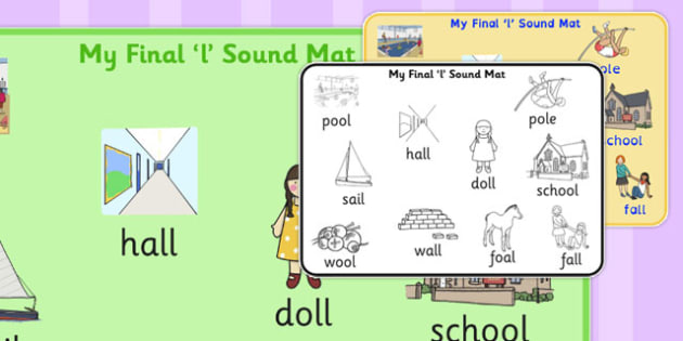 Final 'L' Sound Word Mat 2 - final l, sound, word mat, word, mat