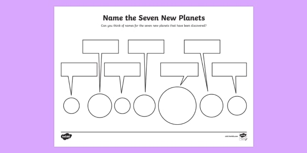 seven planets naming worksheet activity sheet space. Black Bedroom Furniture Sets. Home Design Ideas
