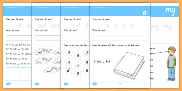 New zealand essential spelling words list one write up sheet ccuart Image collections